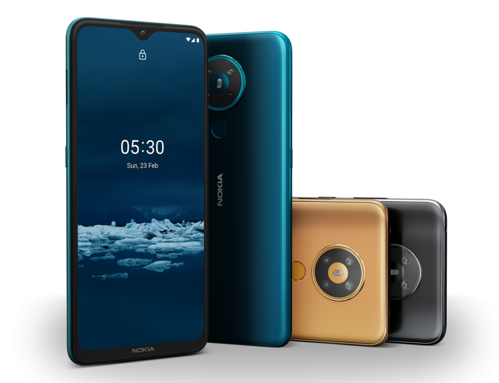 Nokia 5.3 in multiple colors