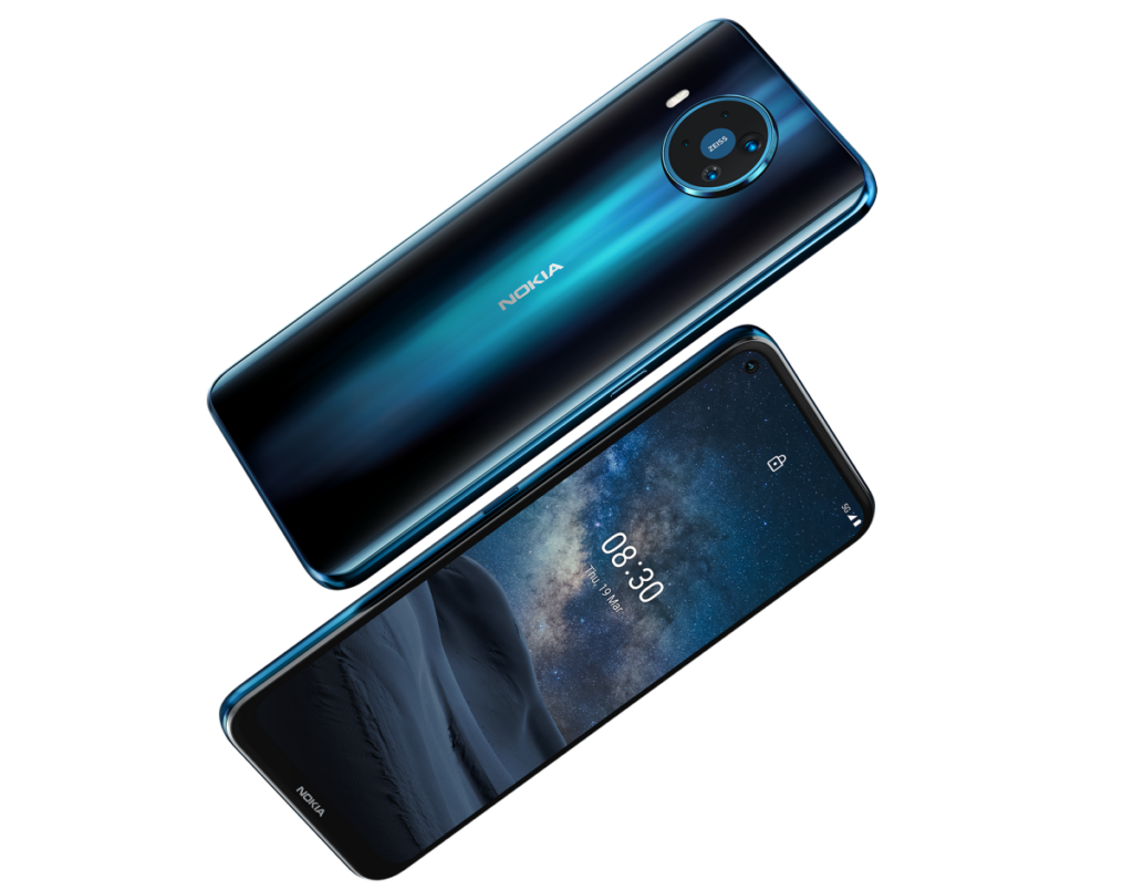 Nokia 8.3 back and front view