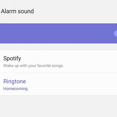 Samsung's Clock app on the Galaxy S20 lets you set Spotify as the alarm