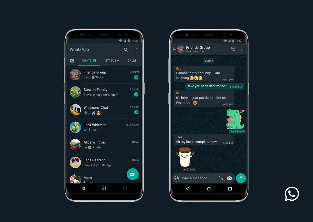 """<p>The story of Dark Mode for WhatsApp is a long one. We've been writing about Dark Mode coming to the app since all the way back in 2017. In the time since there have been multiple instances of the company testing and preparing to roll it out. Today is finally the day. WhatsApp for Android</p> <p>The post <a rel=""""nofollow"""" href=""""https://www.xda-developers.com/whatsapp-dark-mode-android-iphone/"""">WhatsApp finally rolls out Dark Mode for Android</a> appeared first on <a rel=""""nofollow"""" href=""""https://www.xda-developers.com/"""">xda-developers</a>.</p>"""