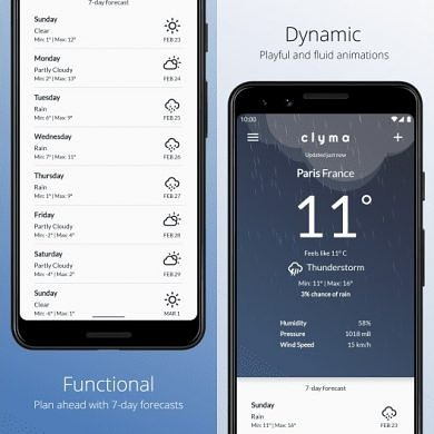 Clyma Weather is a simple weather app that combines data from 3 weather providers