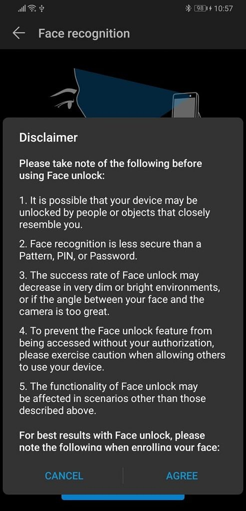 EMUI 9 and Magic UI 2 face recognition