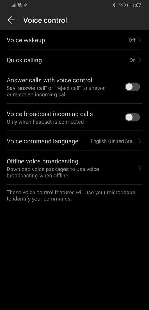 EMUI 9 and Magic UI 2 voice control