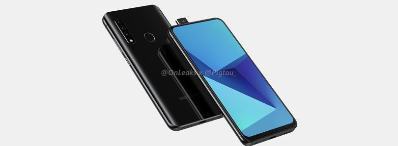 Samsung's first smartphone with pop-up front camera shown off in leaked renders