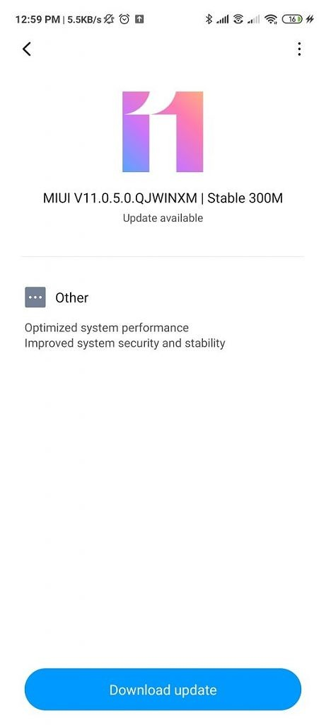 MIUI 11.0.5.0 for the Redmi Note 9 Pro