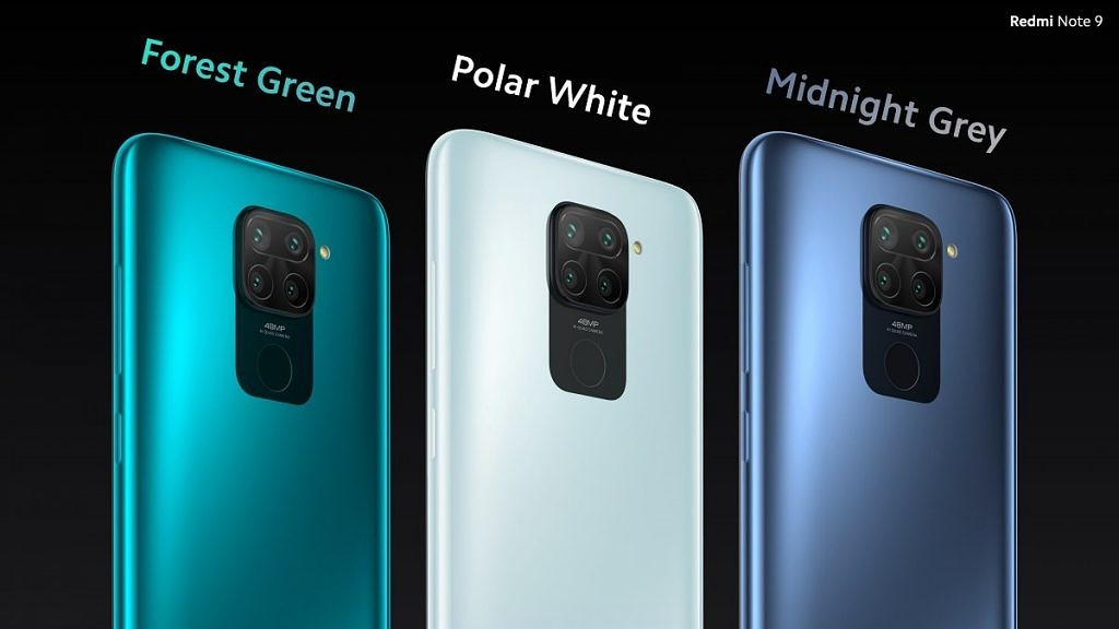 Redmi Note 9 color variants
