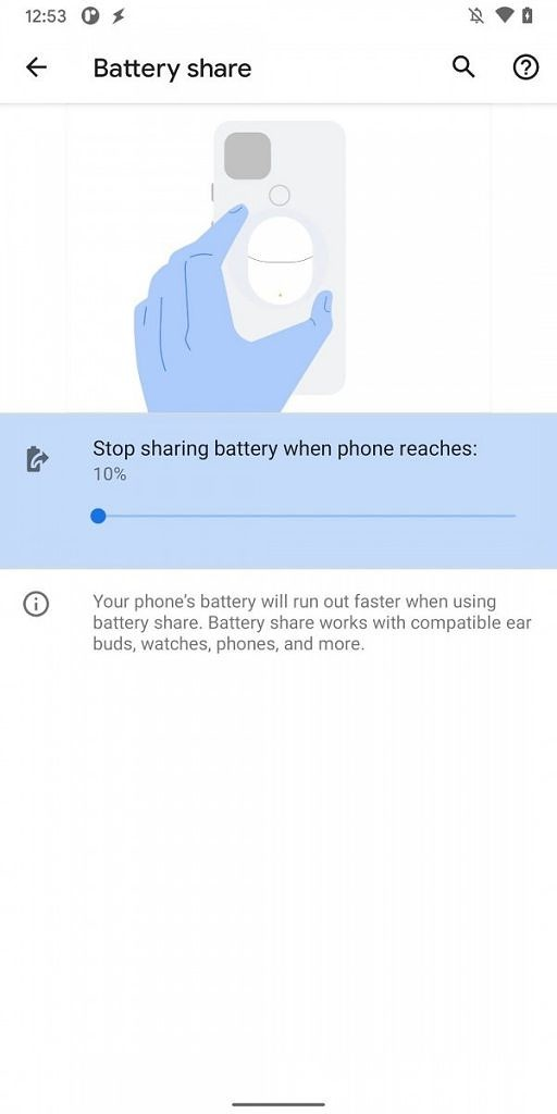 battery share Features of Android 11 Developer preview