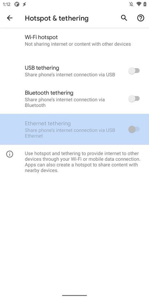 ethernet Features of Android 11 Developer preview