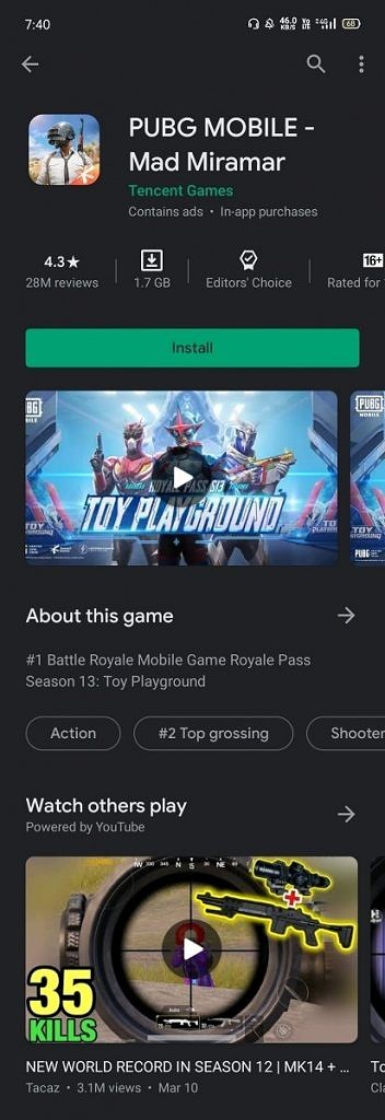 Google Play Store related gameplay videos from YouTube