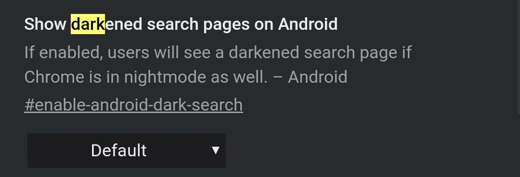 Google Chrome light theme search results