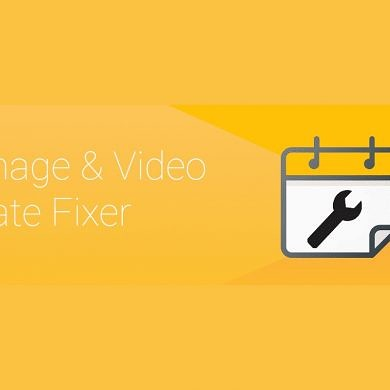 Image and Video Date Fixer restores the proper dates to your media files