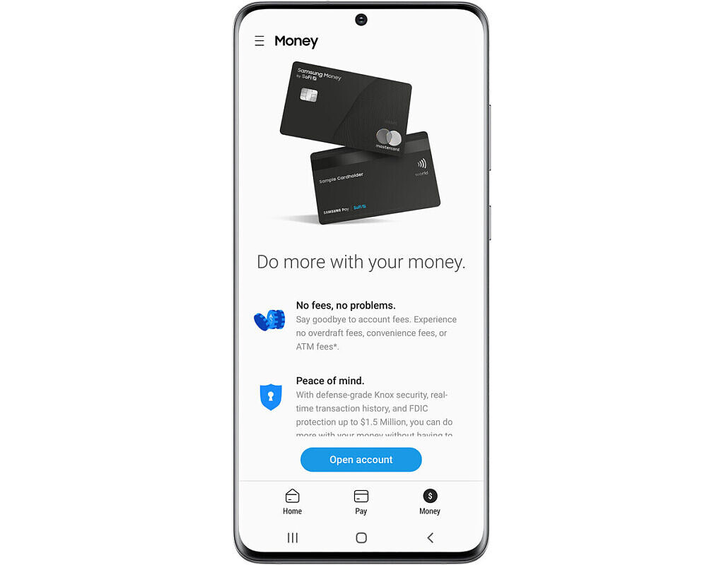 Samsung Pay app money graphic on phone