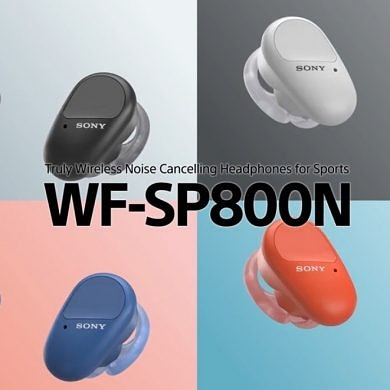 Sony's latest wireless earbuds offer noise-cancelation and an IP55 rating