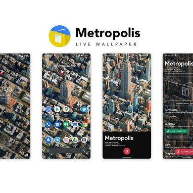 [Giveaway] Metropolis is a beautiful live wallpaper that puts urban, drone-scanned 3D scenes on your home screen