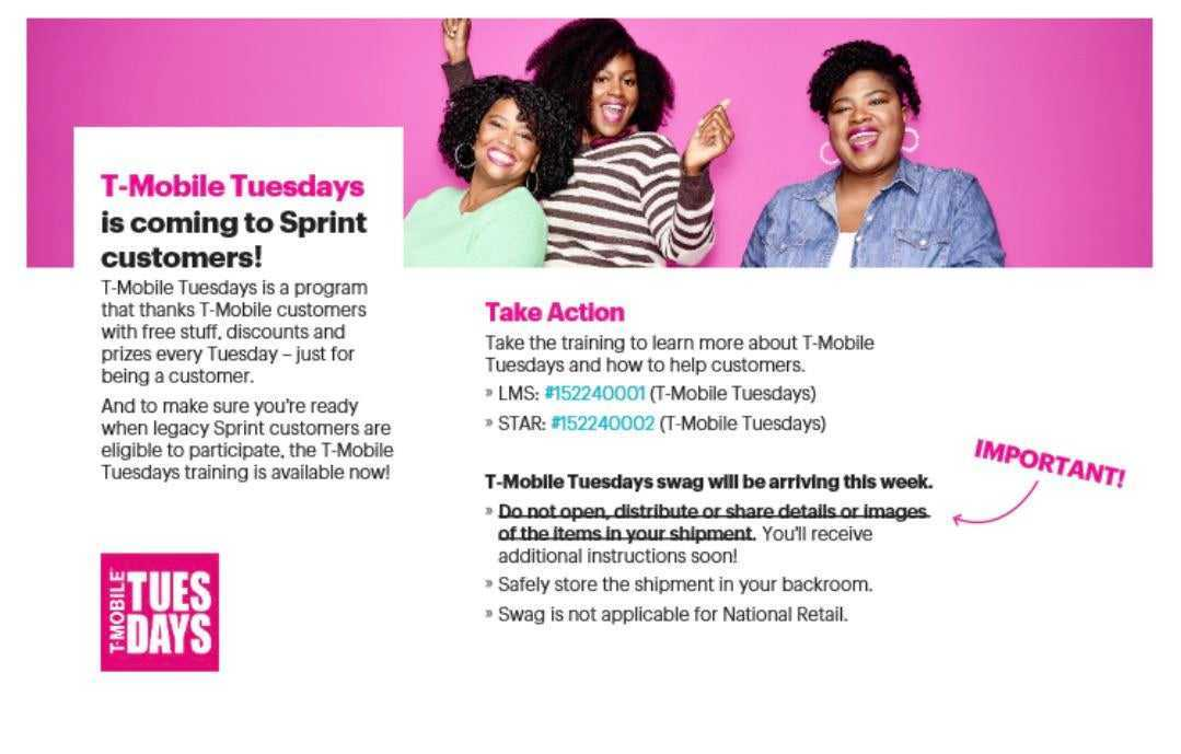 T Mobile Tuesdays Freebies Program Is Expanding To Sprint Customers