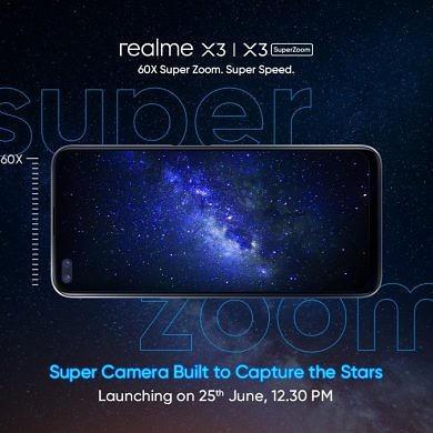 Realme X3 and X3 SuperZoom with 120Hz display, Snapdragon 855+ launching in India on June 25