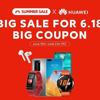 Save up to $100 on HUAWEI Watch GT2- AliExpress Summer Sale Event
