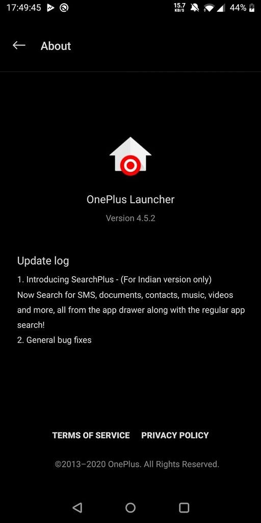 OnePlus Launcher SearchPlus