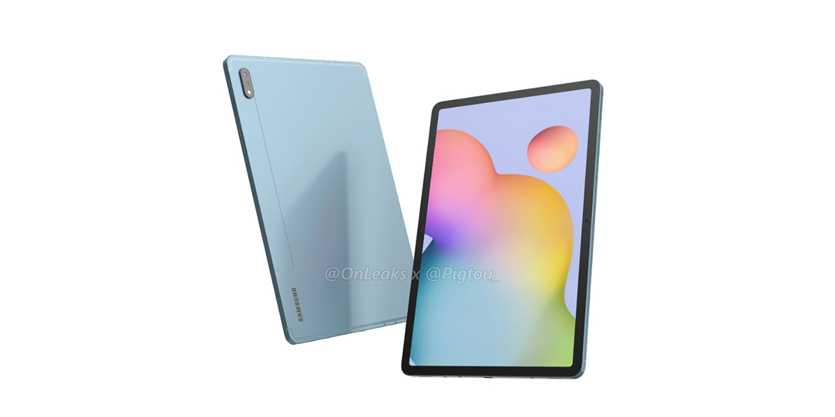 Update Plus Renders 120hz Galaxy Tab S7 Leaked Renders Show Samsung S Answer To The Apple Ipad Pro
