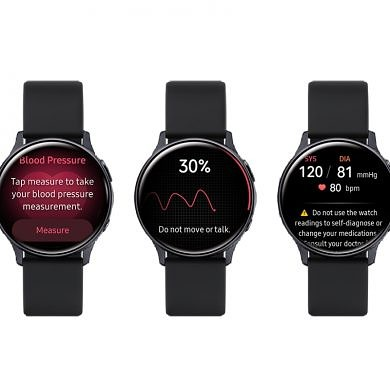 Samsung begins rollout of blood pressure monitoring app for the Galaxy Watch Active 2 in South Korea