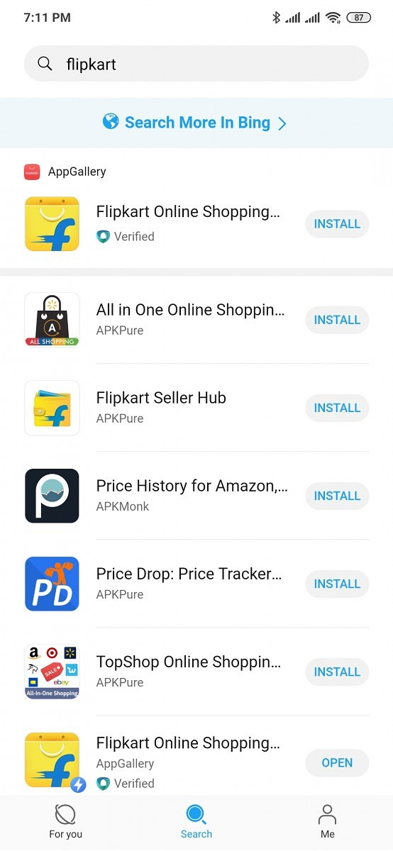 Petal Search find apps to download on Huawei smartphones