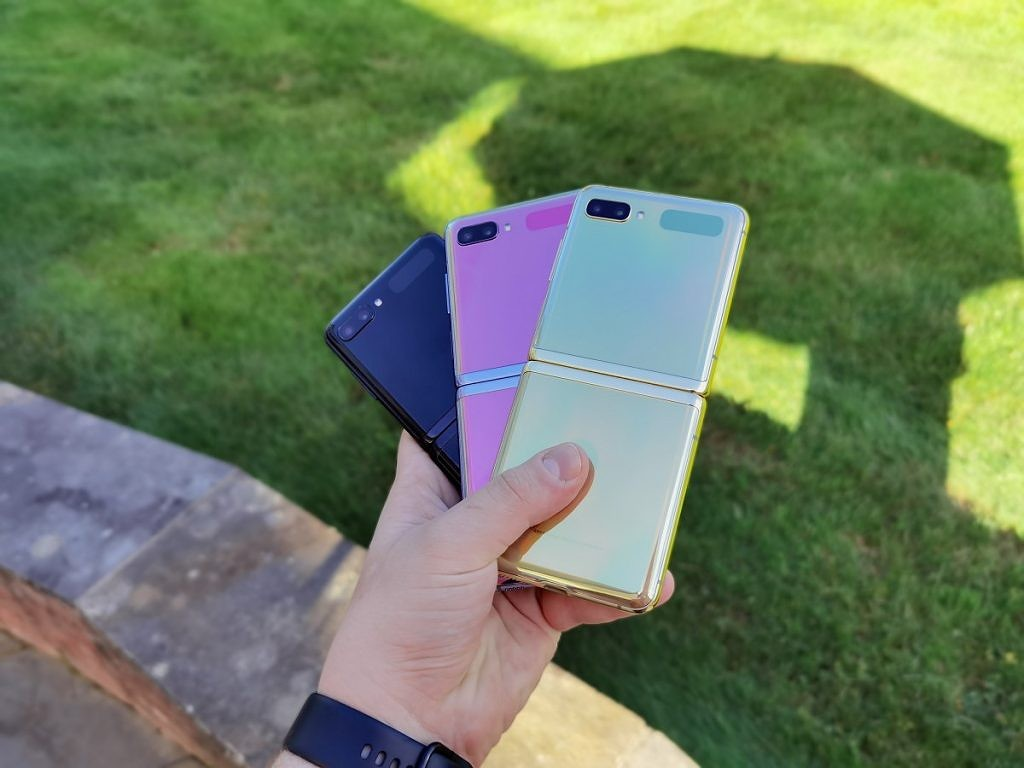 The Galaxy Z Flip in three colors