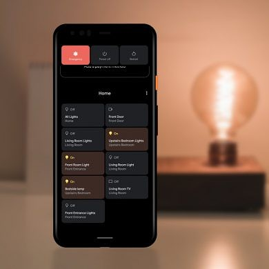 Android 11's power menu device controls finally bring the phone into the smart home