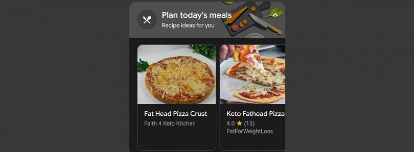 Google Assistant's daily overview now shows recipe suggestions