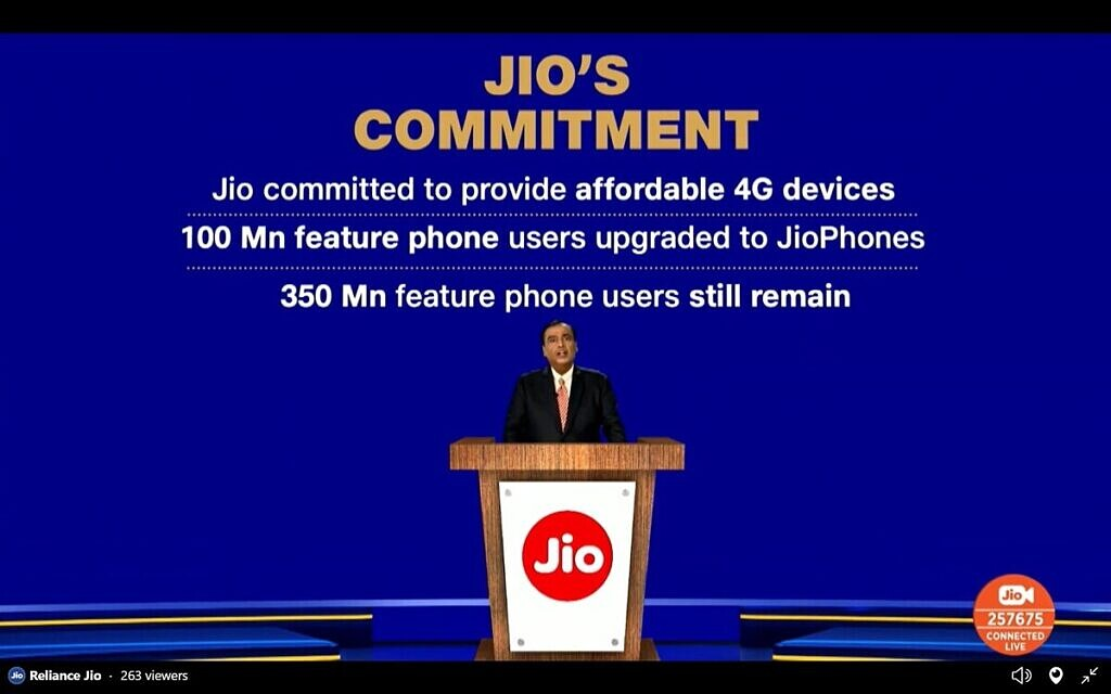 Google Jio Android smartphone 5G