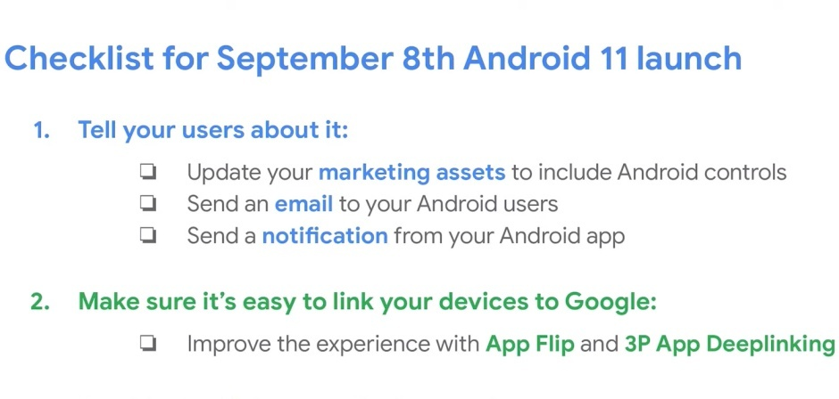 """<p>The first Android 11 Beta was released about a month ago, which means the next update should be coming very soon. Google shared its release timeline with the first Developer Preview, noting that the first two beta releases would come out in June and July. Subsequent releases, however, are scheduled vaguely for """"Q3."""" Google may</p> <p>The post <a rel=""""nofollow"""" href=""""https://www.xda-developers.com/stable-android-11-update-september-8th/"""">Google may release the stable Android 11 update on September 8th</a> appeared first on <a rel=""""nofollow"""" href=""""https://www.xda-developers.com/"""">xda-developers</a>.</p>"""