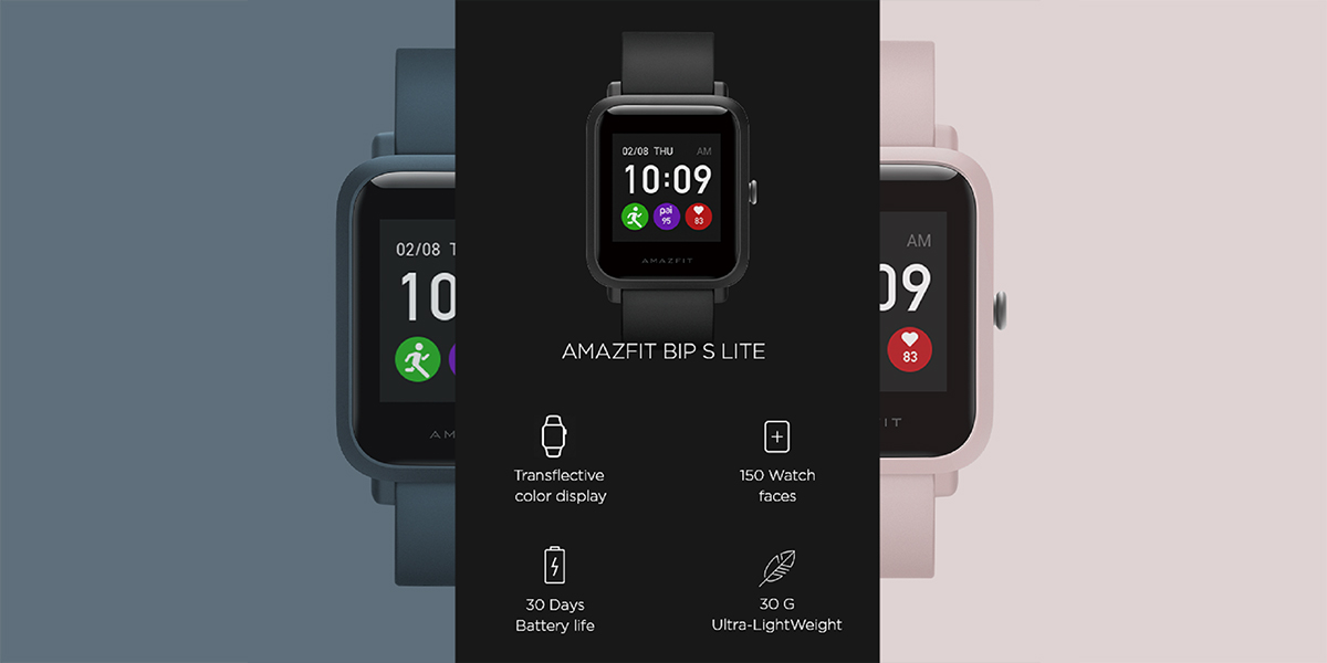 Amazfit Bip S Lite with transflective color display, 30-day ...