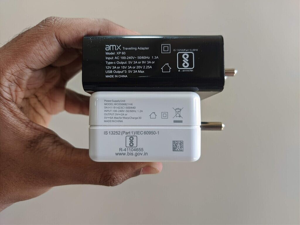 AMX XP60 and OnePlus chargers