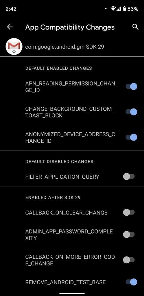 Android 11 debugging app compatibility developer options