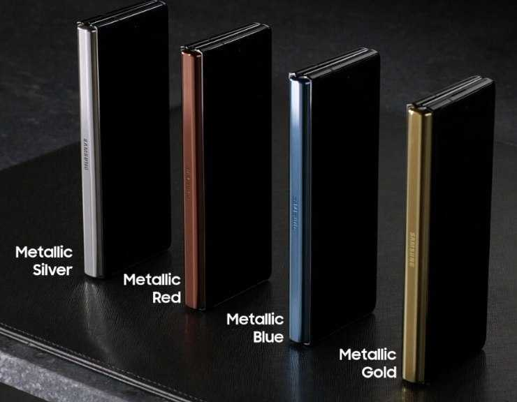 Samsung Galaxy Z Fold 2 Hinge colors