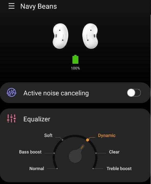 Galaxy Buds Live plugin active noise canceling and equalizer