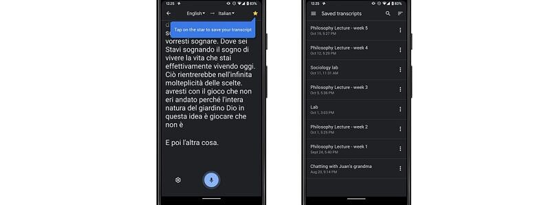 Google Translate now lets you save transcripts of real-time speech transcriptions