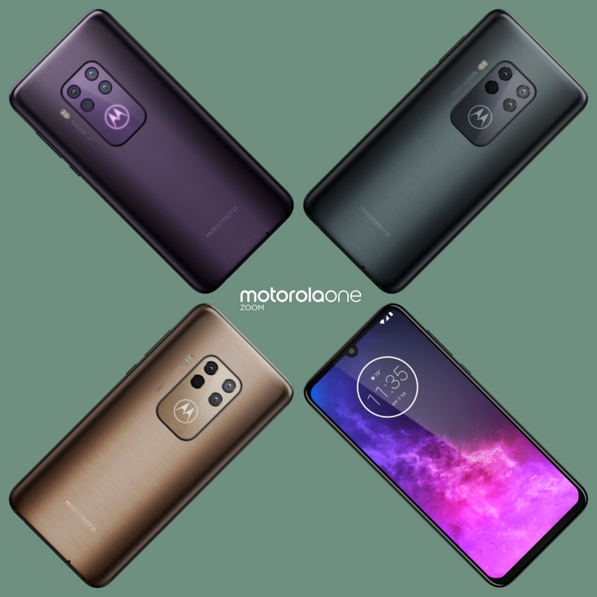 Motorola One Zoom colors