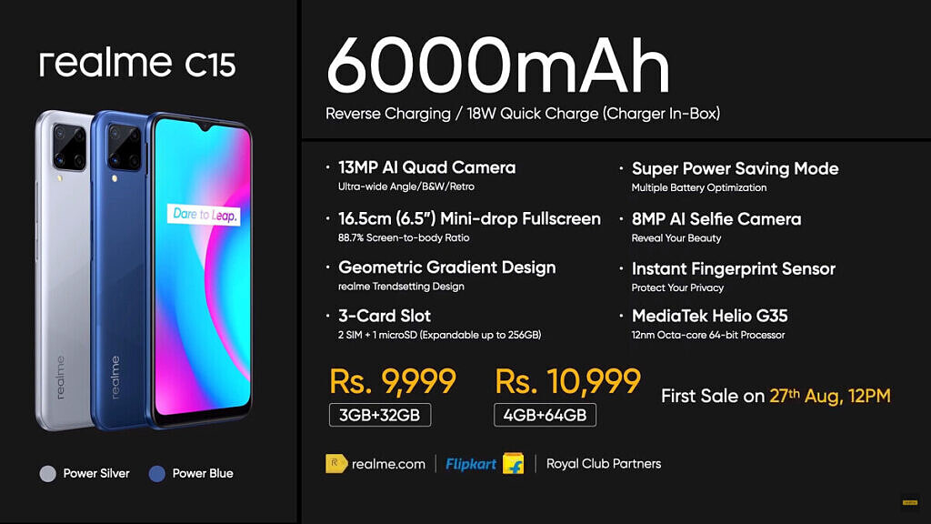 Realme C15 spec and price