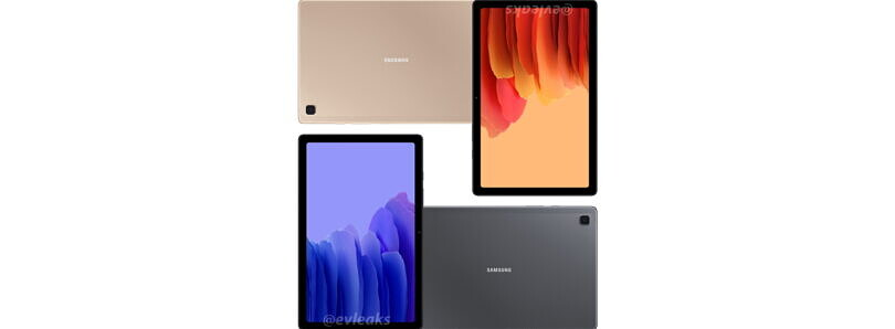 Samsung Galaxy Tab A7 2020 leaked renders show off Gold and Gray colors