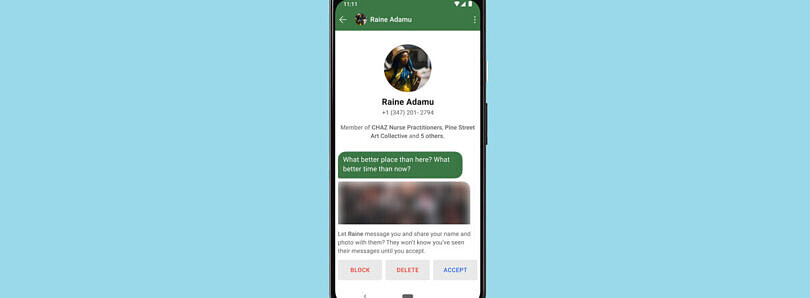 Signal adds message requests so you learn more about who's contacting you