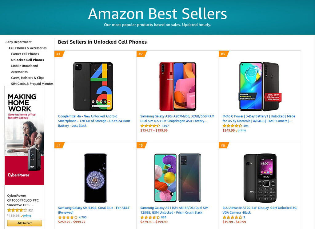 "<p>The Google Pixel 4a's launch may have come later than expected due to the COVID-19 pandemic, but the late launch doesn't seem to have diminished excitement for the new mid-range Pixel phone. In the last 24 hours, Google's new smartphone has shuffled between the #1 and #2 spot for the best-selling unlocked smartphone on both</p> <p>The post <a rel=""nofollow"" href=""https://www.xda-developers.com/google-pixel-4a-best-selling-unlocked-smartphone-amazon-best-buy/"">Google Pixel 4a is one of the best selling unlocked smartphones on Amazon and Best Buy in the U.S.</a> appeared first on <a rel=""nofollow"" href=""https://www.xda-developers.com/"">xda-developers</a>.</p>"