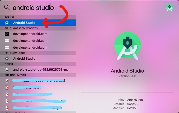 Android Studio on macOS
