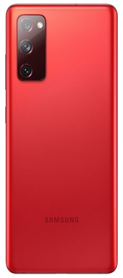 Samsung Galaxy S20 FE in red
