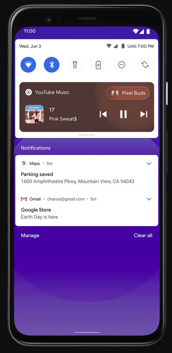 Android 11 redesigned media player