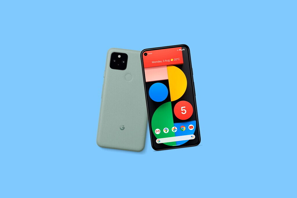 An image featuring Pixel 5 which supports Google Fi