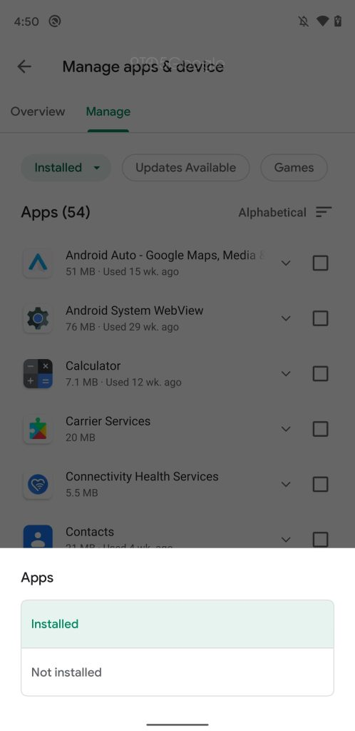 Google Play Store Manage apps & devices