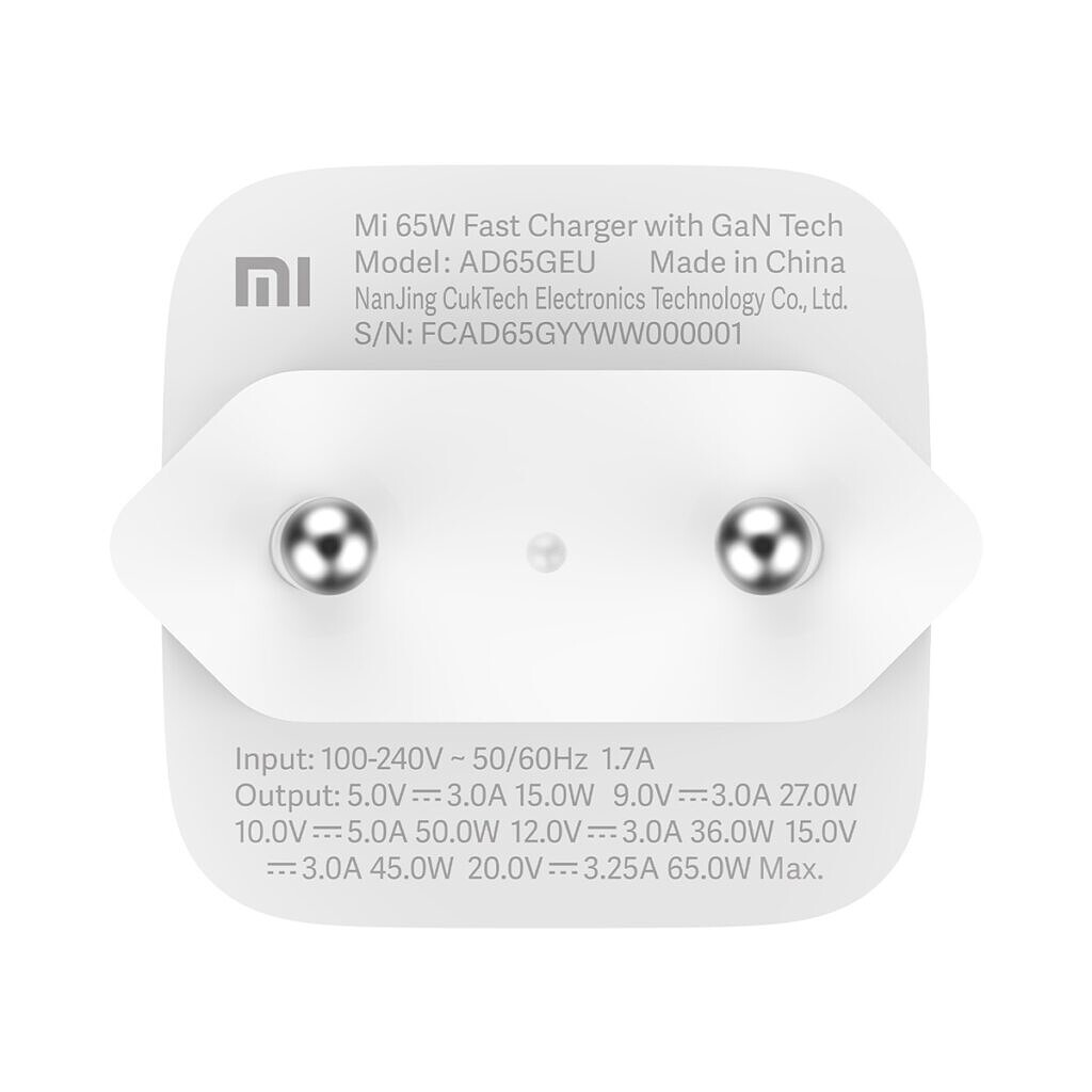 Mi 65W Fast Charger with GaN