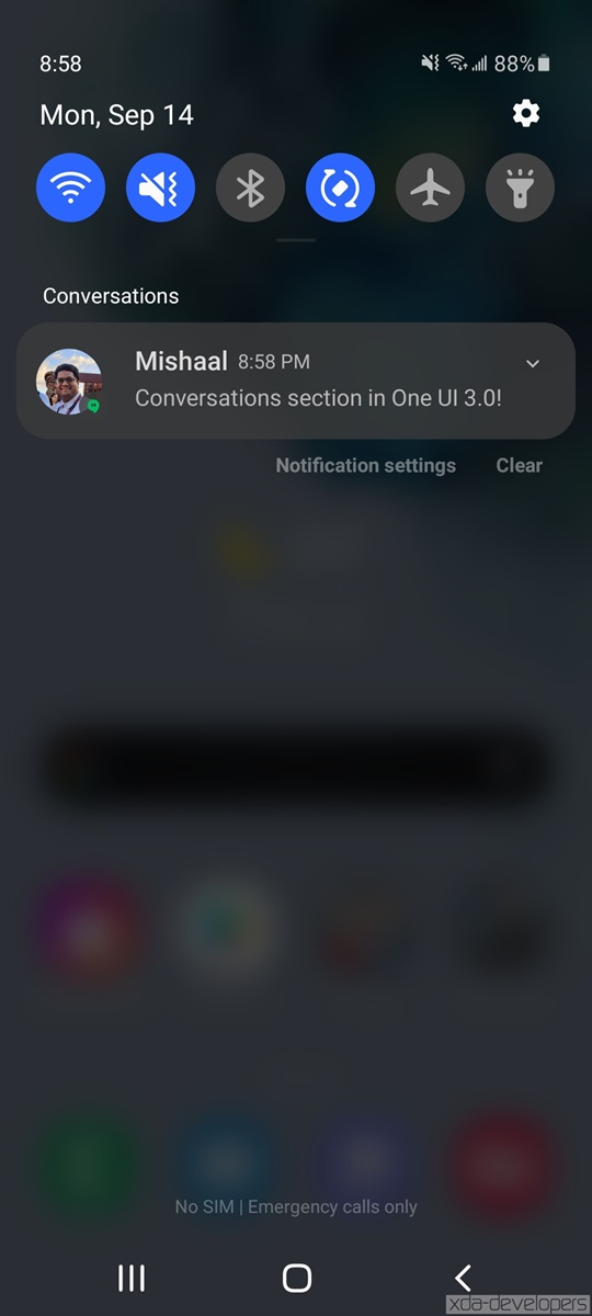 Android 11 features in One UI 3.0