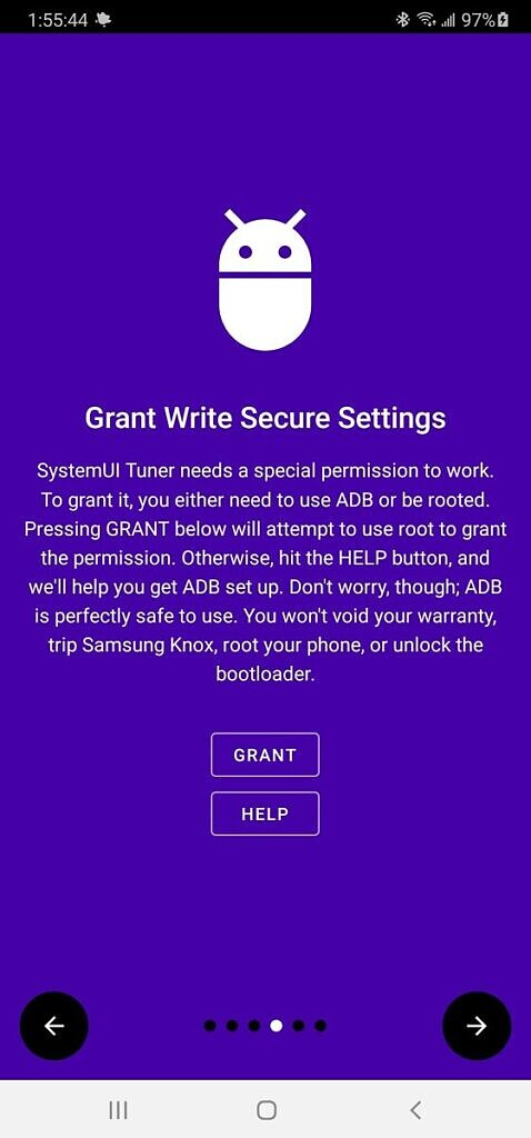 Grant write permission of protected settings on rooted Samsung Galaxy Note 20 Ultra
