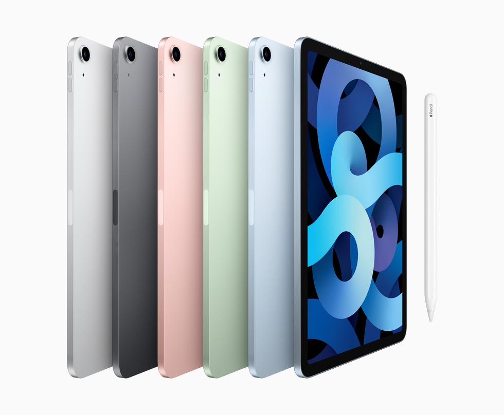 Apple's iPad Air 2020 comes in multiple colors.